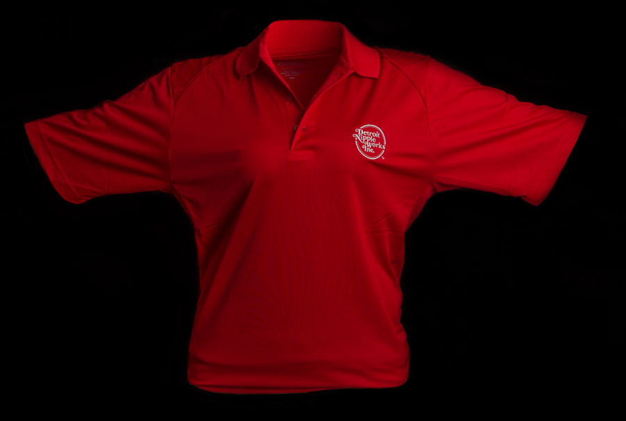Detroit Nipple Works Red Polo Shirt