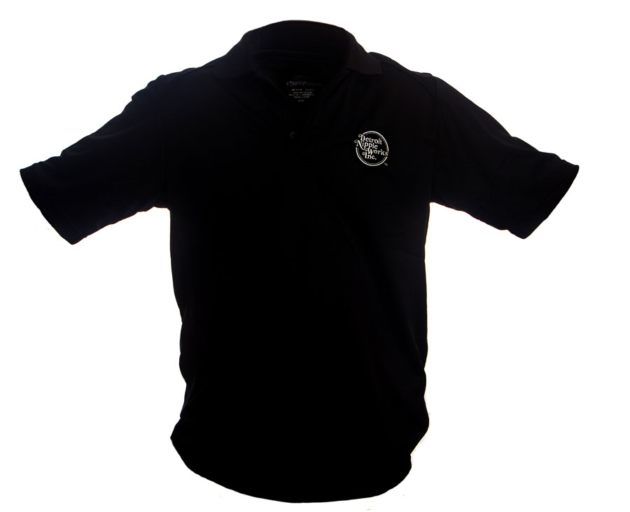Detroit Nipple Works Black Polo Shirt Promotional Items