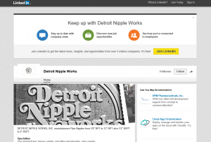 Linkedin Page of Detroit Nipple Works Visit Us!
